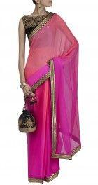 Tisha Saksena's Ombre Saree with sleeveless blouse  Rs. 23,000 @ http://www.perniaspopupshop.com/designers-1/tisha-saksena