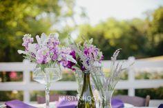 Wine Barn Wedding centerpieces
