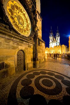 The old town with the famous astronomical clock in the foreground, Prague, Czech Republic  #travel