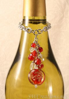 SWCreations Beaded Jewelry Designs - Cerise Red Diva Crystal Wine Bottle Charm, $24.20 (http://www.swcreations.net/wbc04-cerise-red-diva-crystal-wine-bottle-charm-beaded-gifts/wine-charms.html)