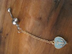 Belly Button Ring  Body Jewelry  Gold Dangly by BriellesJewels, $9.00