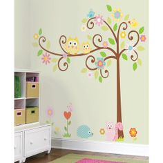 This is what Haley wants in her room!   $40  RoomMates - Peel & Stick Wall Decals Mega-Pack, Scroll Tree
