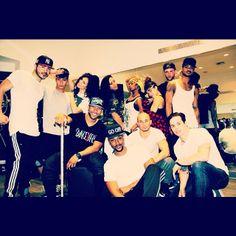 JLo dancers: Jimmy R.O. Smith, Mikey Martinez, Whyley Yoshimura, Alex Kaye, Taylor James
