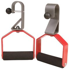 Stamina Rotating Handle Set (Chrome, Red, Black). • Includes two rotating pull up handles. • Use with your pull up bar to create a perfect workout. • Rotating handles let you do pull ups and chin ups inone exercise, maximizing strength and effciency. • Solid steel construction for durability. • Padded handles for firm grip and comfor.
