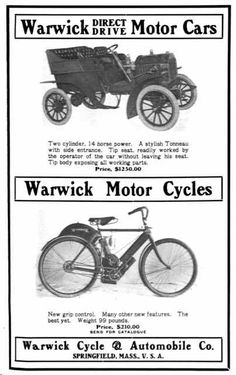 1904 Warwick Automobile Advertisement