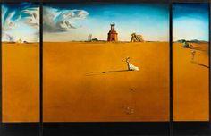 Salvador Dalí - Landscape with a girl skipping
