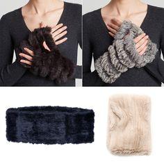 Rank & Style - Jocelyn Rabbit Fur Fingerless Gloves and Infinity Scarf #rankandstyle