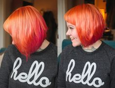 The Dainty Squid Hair Master post | The Dainty Squid | Bloglovin' peach to pink