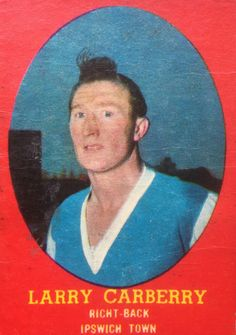 Larry Carberry of Ipswich Town in 1954.