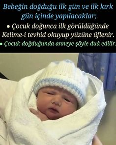 The first day of the baby's birth and the first forty days Bebeğin doğduğu ilk gün ve ilk kırk gün içinde yapılacaklar; ● Çocuk … They will be done on the first day of birth and in the first forty days; ● When the child is first born, he read t Islam, Online Tests, Cute Little Baby, Baby Birth, New Baby Products, Children, Instagram, Wordpress Theme, Face