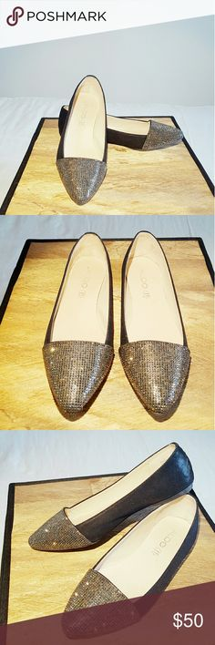 ALDO | Rhinestone Flats ~ Stunning ballet flats ~ Rhinestone toe detail ~ Black suede-like fabric along shoe ~ Perfect way to add sparkle to any outfit ?? ~ Worn twice ~ In perfect condition  ~ No longer available online at Aldo.com ~ Reasonable offers accepted Aldo Shoes Flats & Loafers
