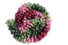 50% Off - CLEARANCE SALE - Pink & Green Crochet Chic Scarf - Multicolor Lariat Scarf - Fashion women accessories cowl fuzzy neckwarmer scarflette shawl lace scarf yarn unique turkish scarf green pink multicolor scarf under 15 12.50 USD #goriani