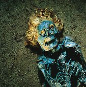 """Mummified head and torso of Neu Versen Man, a """"bog body"""" dated AD in the Roman Iron Age. Tollund Man, Bog Body, Hair Locks, Iron Age, Braided Leather, Stock Photos, Pictures, Bodies, Holland"""