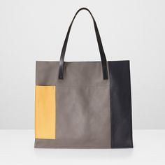 Verity Large Leather Tote Bag in Multi