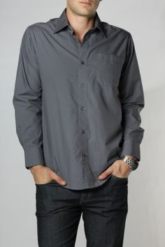 The Biz} Classic Button Down Dress Shirt in Winter Fresh $20 ...