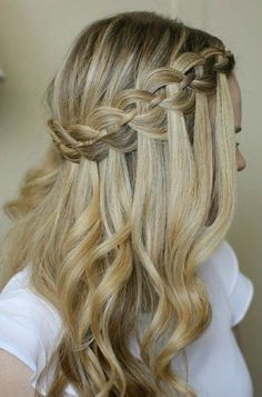 50 Waterfall Braid Inspirations You will Love - With Hairstyle