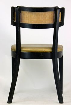 Stylish Set of Four Mid-Century Edward Wormley Style Dunbar Chairs Cane Back | From a unique collection of antique and modern side chairs at https://www.1stdibs.com/furniture/seating/side-chairs/