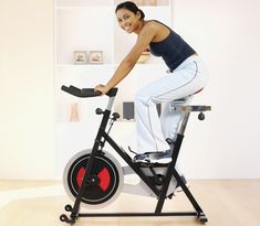 Burn up to 1,000 calories with this indoor cycling workout...wish I had my own spin bike, I would so do this!