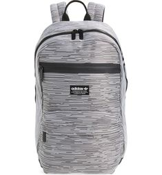 Adidas Originals National Primeknit Backpack - Grey In Prime Knit Rib  Black  I Love My 48bfc86bb9496