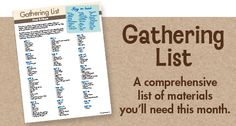 A to Zoo Animals Gathering List - MOTHER GOOSE TIME