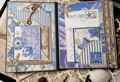 DIY Beach Mini Album – Graphic 45 Papers Mini Albums, Mini Photo Albums, Graphic 45, Paper Crafts, Diy Crafts, Beach, Mixed Media, Cards, Gallery Wall