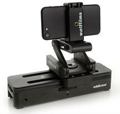 edelkrone Slider One mit Motion Module und Wolffilms Halterung für iPhone