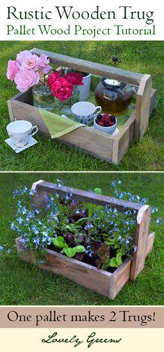 Pallet Proyecto: DIY Rustic Trugs ~ precioso Verdes ~ La belleza de la Vida en el Campo