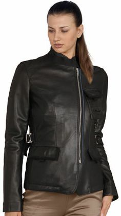 Trendily gracious leather jacket for women