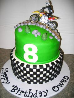 motocross birthday party | Dirt Bike Theme Birthday Cakes Themed Party Pic #20