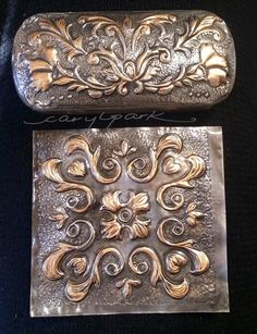 Passion for Pewter: Pewter embossed sun glass case.