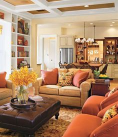 Warm and Cozy Living Room Colors