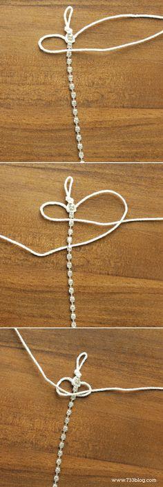 DIY Hemp and Rhinestone Bracelet Tutorial