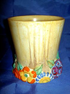 1930s Newport Pottery Beautiful Art Deco Clarice Cliff Bizarre My Garden Vase | eBay