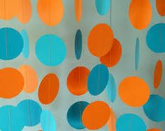 blue and orange birthday party - Google Search