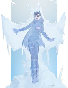 This is a commission for of Batgirl after being frozen by Mr.Batgirl Pin Up Commission