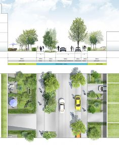 Week One of the ideal street design. Width of this street is perfect. Week One of the ideal street design. Width of this street is perfect. Pedestrian got their sidewalk. Landscape Diagram, Landscape And Urbanism, Urban Landscape, Landscape Design, Coupes Architecture, Villa Architecture, Architecture Graphics, Architecture Diagrams, Classical Architecture