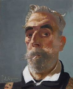 John Byrne, self portrait.