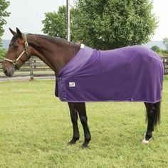 Defender Fleece Dress Cooler 72In Purple by Defender. $35.99. Defender(R) Fleece Cooler Line Lightweight multi-purpose fleece cooler is designed to be used as a traveling sheet, stable sheet, blanket liner and for cooling out your horse. Features: 100% Polyester Fleece - Anti-pill fleece designed to quickly wick away moisture from your horse to help prevent chill from drafts and breezes. 420 Denier Nylon Front Shoulder - Contoured for a stylish look that provides addi...