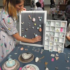 DIY chalboard magnet display at Renegade Craft Fair