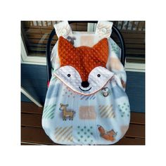 Made To Order Fox Fitted Elephant Carseat Canopy With Peek A Boo Opening Ready