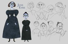 The illustrator Kaley Bales is working on a Jane Eyre characters design: New designs and updates can be found on her Twitter accou...
