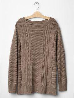 boyfriend cable knit sweater / gap