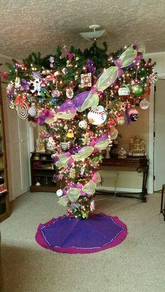 My upside-down Christmas tree!