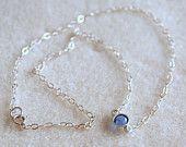 Swarovski Birthstone Necklace by IJDbyNoelle on Etsy $21.00