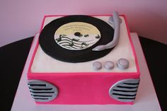50's cake | Bridal Shower Cakes New Jersey - 50's Record Player Custom Cake