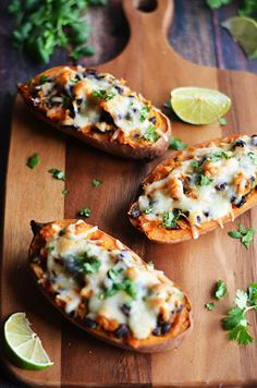 Chipotle, Roasted Garlic, and Black Bean Twice-Baked Sweet Potatoes ...