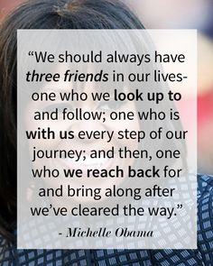 Friendship Quotes QUOTATION – Image : As the quote says – Description Happy Birthday Michelle Obama! We're winding down our Friday with our favorite FLOTUS quotes! Favorite Quotes, Best Quotes, Funny Quotes, Top Quotes, Cool Words, Wise Words, Happy Quotes, Life Quotes, Michelle Obama Quotes