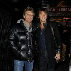 "Jon Bon Jovi & Richie Sambora shortly before Richie left Bon Jovi. According to Richie, ""We just weren't communicating anymore."""