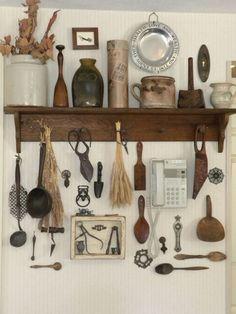 shabby chic home decor ideas Cocina Shabby Chic, Shabby Chic Kitchen Decor, Vintage Kitchen Decor, Shabby Chic Homes, Rustic Homes, Antique Decor, Rustic Decor, Rustic Design, Antique Interior