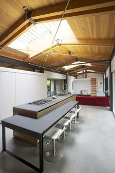 Ergonomic modern kitchen at the Southlands Residence